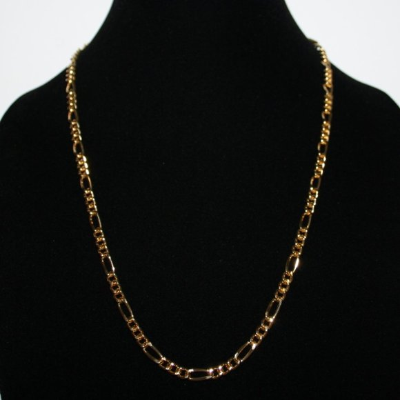 """Beautiful 24k gf gold chain necklace 23"""""""